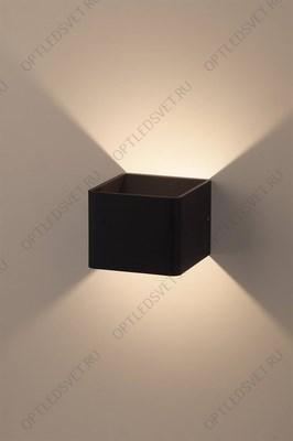 Ecola GX53 LED B4157S светильник накладной IP65 матовый Прямоугольник/Пирамида алюмин. 2*GX53 Черный 215x135x85 - фото 33281