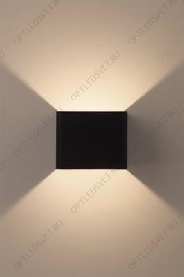 Ecola GX53 LED 3082W светильник накладной IP65 матовый Квадрат металл. 1*GX53 Черный 136x136x55 - фото 33283