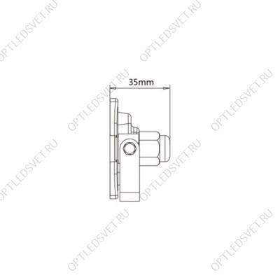 Ecola GX53 LED B4140S светильник накладной IP65 матовый Круг с ресничкой алюмин. 1*GX53 Черный 145x145x65 - фото 33329