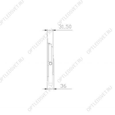 Ecola LED panel тонкая панель без драйвера 40W 220V 2700K Матовая 595x595x9 (БЕЗ ДРАЙВЕРА) - фото 33549