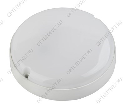"Ecola Light GX53 LED ДПП 03-60-2 светильник Сириус Круг накладной IP65 1*GX53 матовый белый 220х220х100"""" - фото 33577"