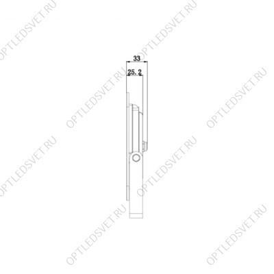 Светильник аварийный светодиодный LEDх60 6ч постоянный с наклейкой ВЫХОД IP20 (EL121 AC/DC) - фото 33844