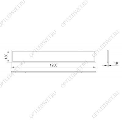 НБУ 04-60-001 60W 230V E27 340*190мм белый,       вверх/вниз, 4-х гранник - фото 34373