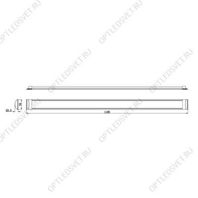 Светильник светодиодный ДВО-12w 4000K 960Лм со стеклом белый (AL2110) - фото 34562