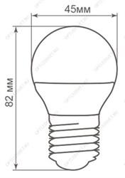 Лампа светодиодная LED 3,5W S14s (замена 25 Вт)матовая, теплый белый свет LEDinestra Osram